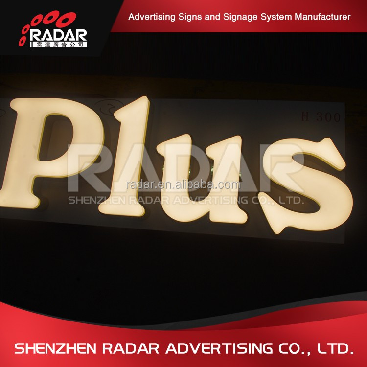 outdoor customlized warm light led facelit carved acrylic sign letter