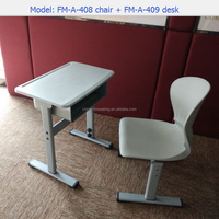 Plastic single kids desk and chair for study FM-A-408
