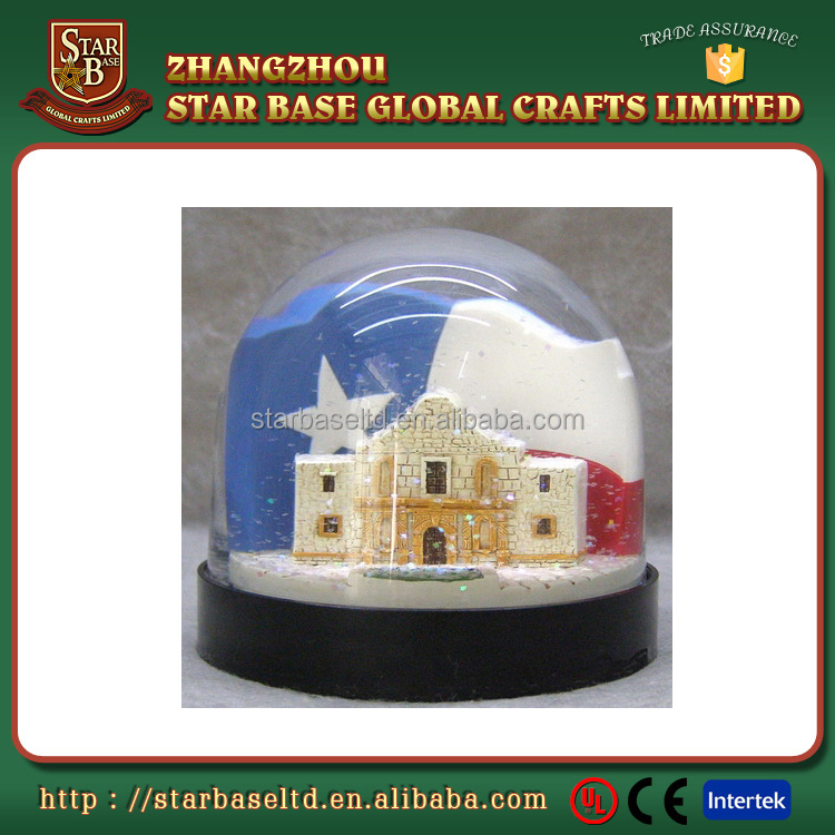 Beautiful design bling wholesale cheap eco-friendly custom glass snow globe