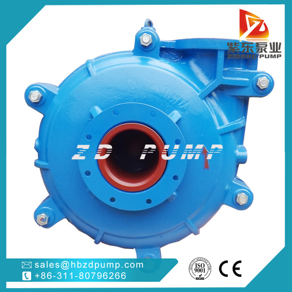 mining ash slurry pump with anti wear chrome wet parts