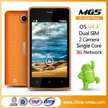 made in china OMES Mobile MG5 4 inch 3G factory very cheap smart phone price