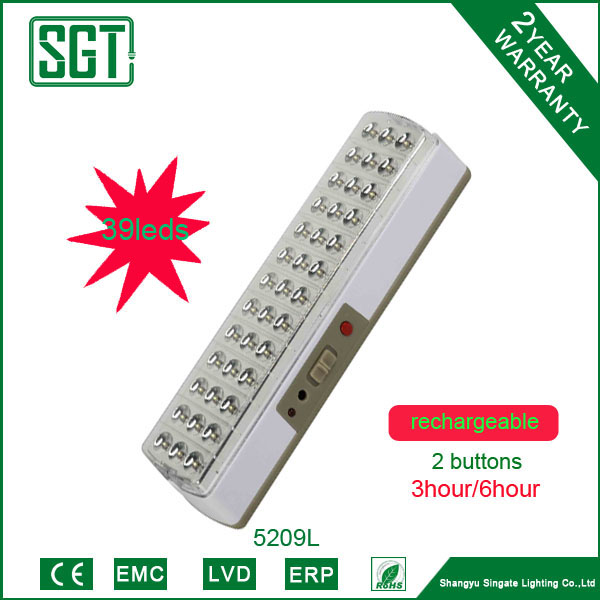 wall mounted rechargeable 2.3w 39pcs emergency light price