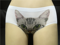 Customized Woman lovely cat 3D Print panties sexy hipster