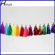 Foil / Tissue Paper Tassel Garland For Christmas Garland Party Decorations SD004