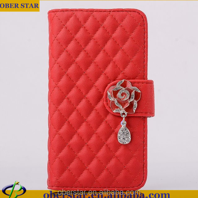 New Fashion For Samsung Galaxy Note 3 N9000 Luxury Leather Diamond Camellia Mobile Phone Cases