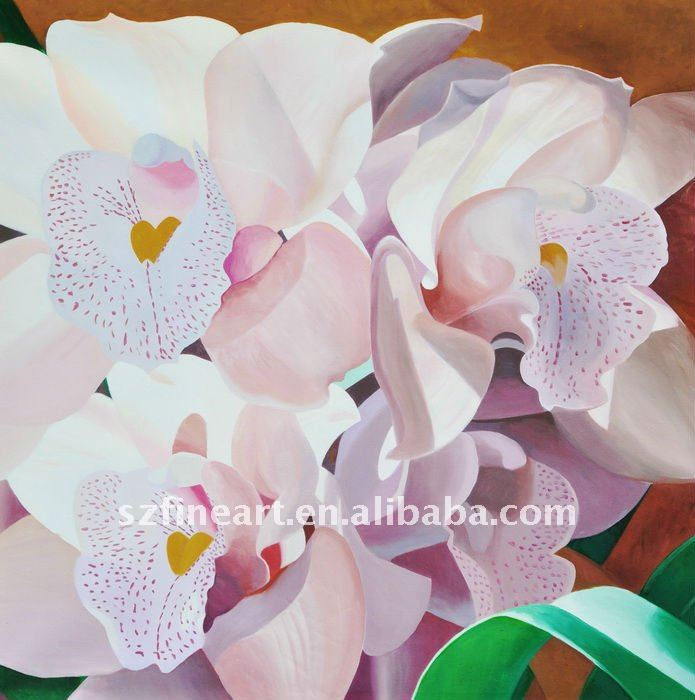 100% handmade canvas flower oil painting Dafen Oil Painting