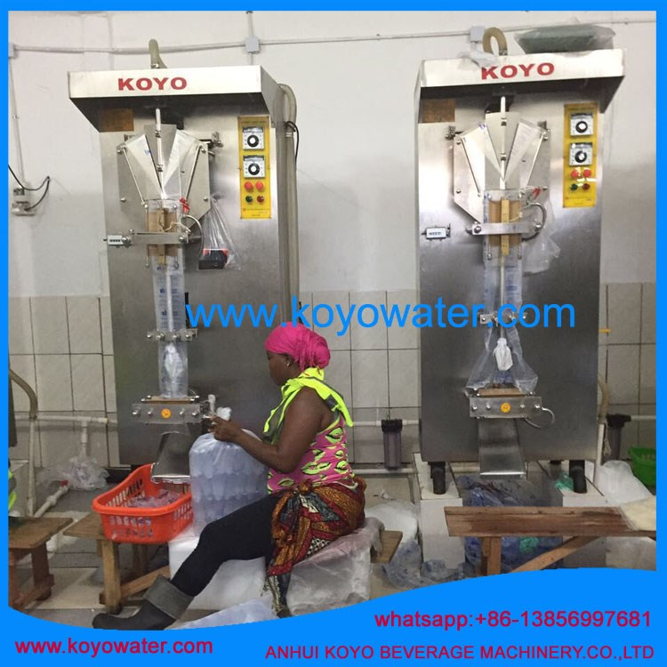 KOYO Sachet Water machine with a complete set parts accessories