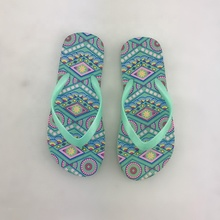 Wholesale price latest arrival full silk printed bulk rubber sole custom made cheap new design flip flops for ladies