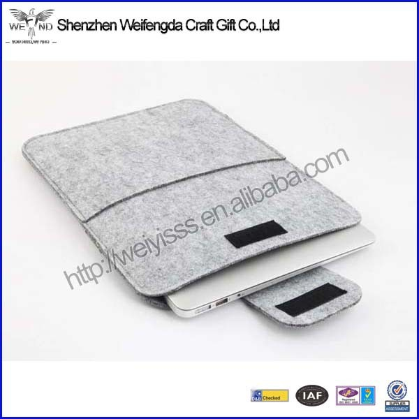 2016 hot new high quality felt material 7 inch cover pouch for tablet pc