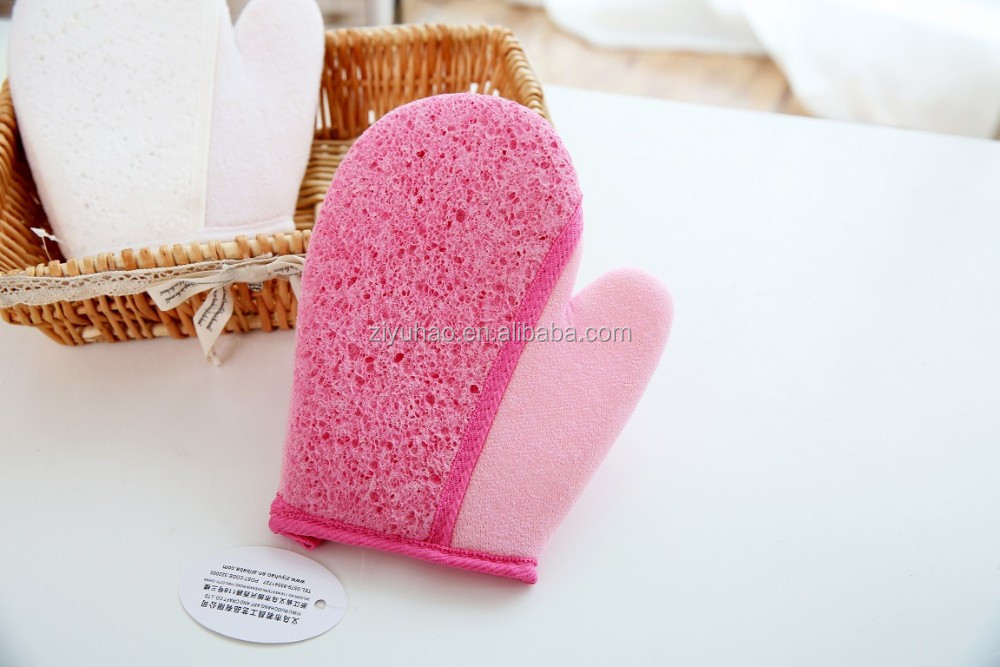 JARNIER Cellulose absorbent pad, cellulose bath sponge, cellulose bathing gloves