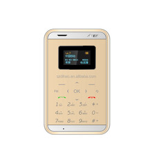 DIHAO New Arrive Aiek M7 Mini card phone 1.0 Inch Daul Band Ultra-thin Pocket Touch Mobile Cell Phone MP3 Bluetooth aiek m3 Cell