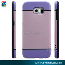 china wholesale market pc tpu plastic cell phone case for galaxy s6, 2 tone color plastic case for samsung s6