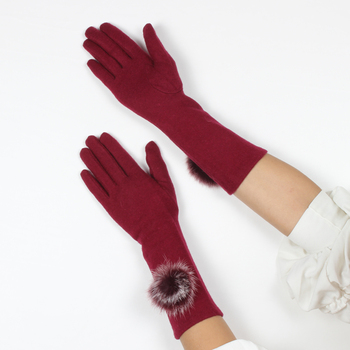 Top quality lady gloves arm length gloves