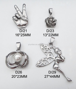 Stainless Steel Angel Wing Charms