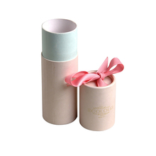 Wholesale Pink Color Plain Tube Style Recyclable Eco-friendly Cardboard Cylindrical Round Cylinder Gift Box