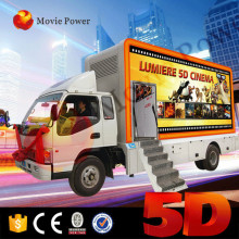 Most profitable business professional truck mobile 5d cinema