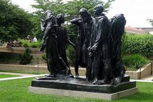 famous sculpture Les Bourgeois de Calais (The Burghers of Calais) by Auguste Rodin