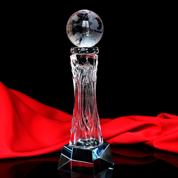 popular new design lombardi replica crystal trophy award for souvenir gift