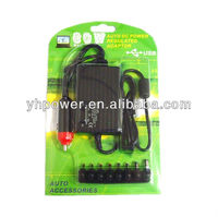 dc adapter 80w universal laptop car charger with usb