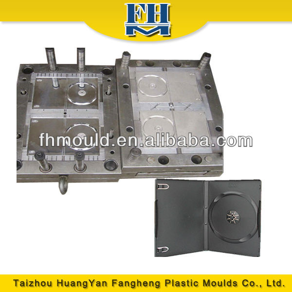 mold design plastic injection cd dvd case mould from Taizhou