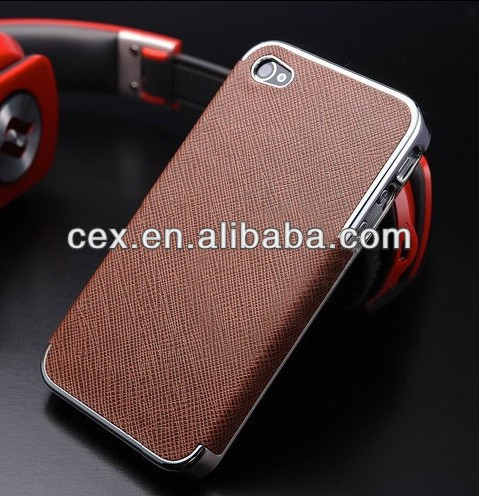 For Apple iPhone 4 4S New Arrival Luxury Ultra Thin Shell Plating PC Hard Plastic Case