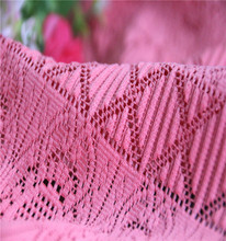 2017 Spandex+Polyester Wholesale African French Lace Fabric For Garment In Pink