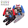 Latest Design Super Hero Red Blue Cotton Boy Clothes Kids Winter Pajamas