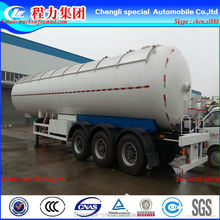 China Hubei CLW factory suppiy biggest 25.2t 60CBM 60000l 3 axles 12 wheels LPG tank trailer