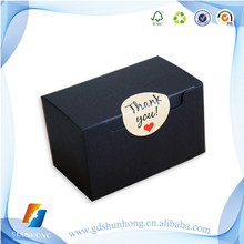 Low Price black paper custom packaging box wholesale with gold hot foil