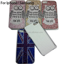 Sublimation OEM rhineston mobile phone cover case for iphone 4 5 6
