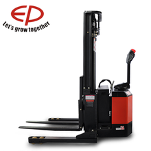 increase both your uptime and your bottom line Full Electric Powered Forklift Pallet Stacker with Stradd wide Leg