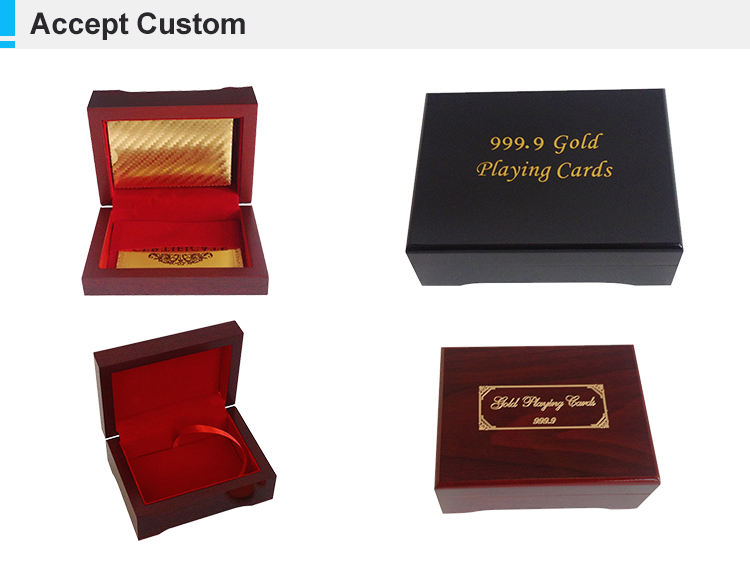 LINGTIAN Wholesale Custom Logo Wooden Playing Cards Box
