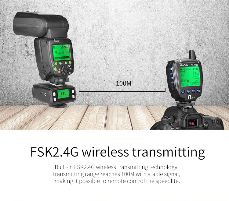 NiceFoto studio equipment - wireless trigger/FSK2.4G/remote trigger/TTL for Canon/TTL for Nikon