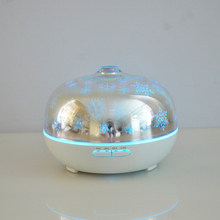 Best Gift 3D Effect Glass Electric Aroma oil Diffuser Portable Ultrasonic Humidifier with colorful 3D Night Light
