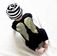 YF71035 new style cotton baby climbing clothes angel wings baby clothing