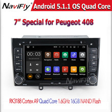RK3188 16G nand Car radio audio Player for Peugeot 408 support OBD2 DVR 3G WIFI Android 5.1.1 Quad core