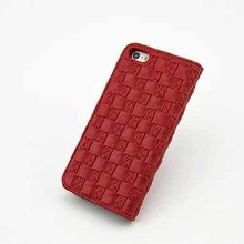 High quality Weave pu leather case for iphone 5s,case for iphone 5s mobile phone