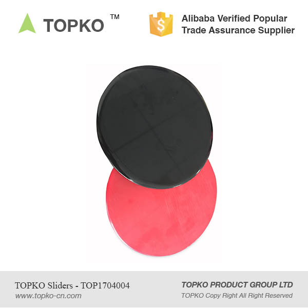 TOPKO Wholesale Abdominal Exercise Equipment Use on Carpet or Hardwood Floors Dual Sided Gliding Discs Core Sliders