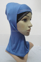C079 new style two color ninja hats with rhinestones,neck cover hats