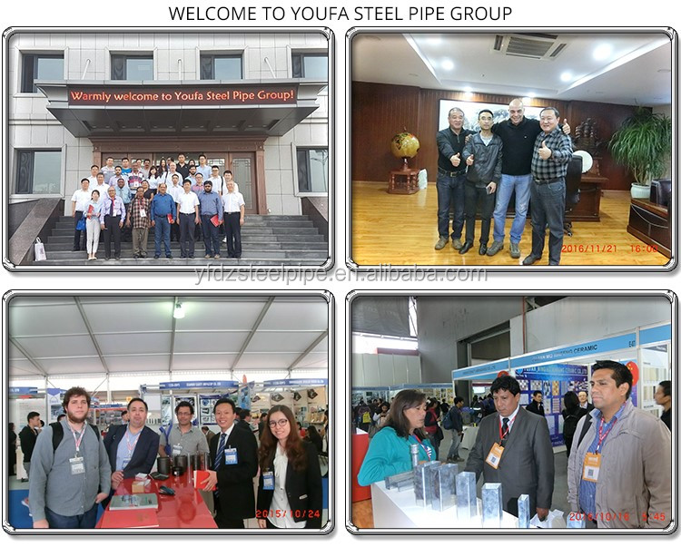 China factory YF Group manufacturer hot dip Galvanized iron pipe scaffolding steel pipe gi pipe list
