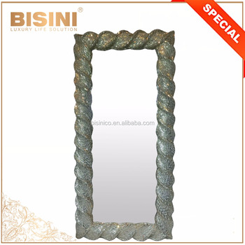 Nouveau Gorgeous Hand Made Crystal Frame Mirror/Charming Bling Style Salon Full Length Mirror