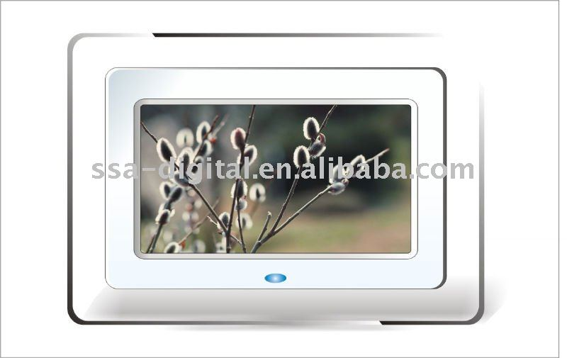 7 inch Digital Photo Frame with LCD Screen, Supports WMA and MP3 Music Formats