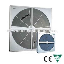 Self-cleaning double sealing rotary duct evaporative air coolers