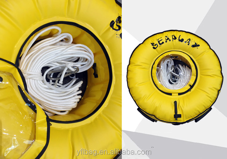 Inflatable Swim Buoy Waterproof Swimming Dry Bag TPU Safety Bouy for Swimmer