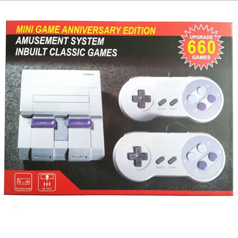 Newest Retro Mini console for SNES 660/400 Games Video Game console Built in 660/400 8bit games AV Cable Classical console