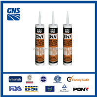 S411 acetoxy silicone sealant adhesive with excellent resistance to weathering and UV light and customized color is avabilable