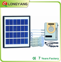 Portable solar led light with MP3 player for home lighting