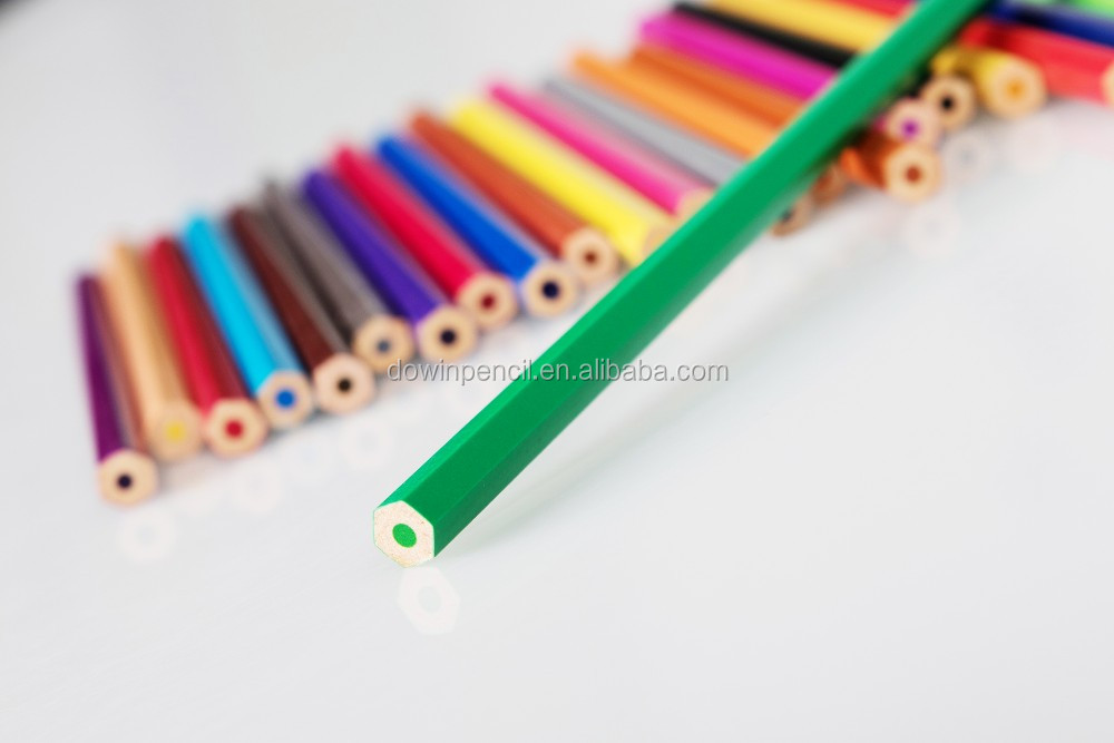 Hot Sell 7'' 12 pcs box packed Color Pencil in 1 Dollar Store