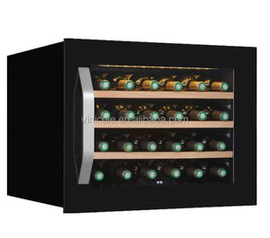24 bottle singe zone built in fan cooling compressor mini Wine Cooler