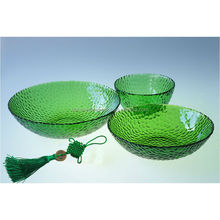 Depression Glass Anchor Hocking Forest Green Burple Bubble Bowl